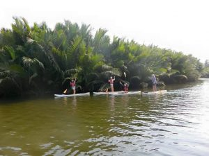 paddle boarding in kampot
